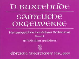 Dietrich Buxtehude - Work For Organ. Volume 1 - Sheet Music - di-arezzo.co.uk