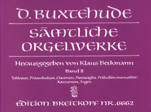 Dietrich Buxtehude - Work For Organ. Volume 2 - Sheet Music - di-arezzo.co.uk