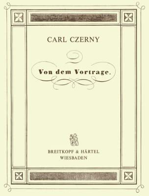 Von Dem Vortrage Op. 500 - CZERNY - Partition - laflutedepan.com