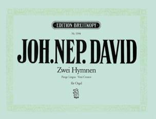 Johann N David - 2 Hymnen : Pange Lingua, Veni - Partition - di-arezzo.fr
