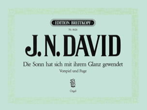 Johann N David - Die Sonn hat sich mit ihrem - Partition - di-arezzo.fr