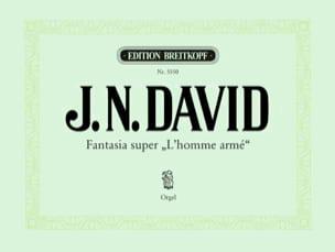 Johann N David - Fantasia Super L'homme Armé - Partition - di-arezzo.fr
