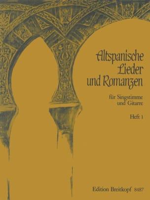 - Altspanische Lieder und Romanzen 1 - Partition - di-arezzo.fr