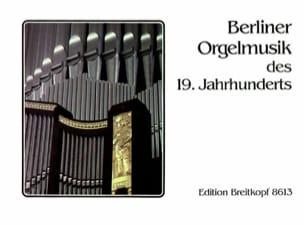 - Musique d'orgue Berlinoise 19ème - Partition - di-arezzo.fr