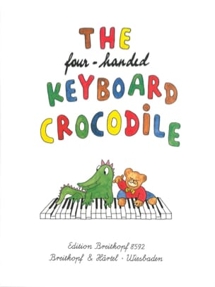 4 Handed Keyboard Crocodile. 4 Mains Partition Piano - laflutedepan