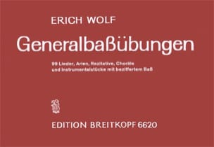 Erich Wolf - Generalbass-Übungen - Sheet Music - di-arezzo.co.uk