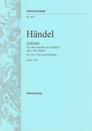 Georg-Friedrich Haendel - Jubilate . Hwv 279 - Partition - di-arezzo.fr