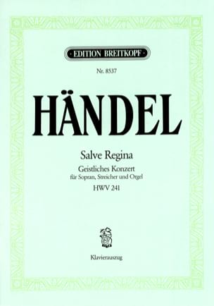 Salve Regina HWV 241 HAENDEL Partition Mélodies - laflutedepan