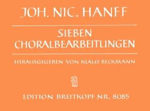 7 Choralbearbeitungen Johann Nikolaus Hanff Partition laflutedepan