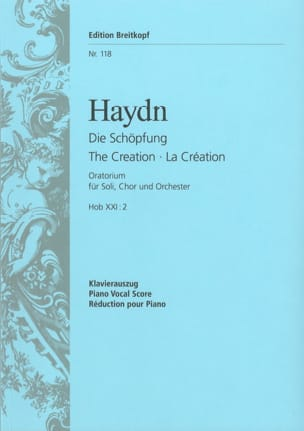 HAYDN - Die Schöpfung Hob 21-2 - Sheet Music - di-arezzo.co.uk