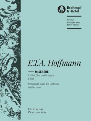 E T A Hoffmann - Miserere b-Moll - Sheet Music - di-arezzo.co.uk