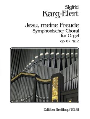 Jesu Meine Freude Op. 87-2 Sigfrid Karg-Elert Partition laflutedepan