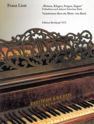 Franz Liszt - Weinen, Klagen, Sorgen, Zagen - Partition - di-arezzo.fr