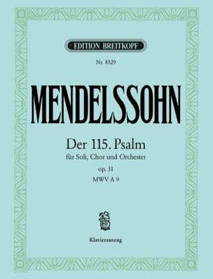 Psaume 115 Opus 31 MENDELSSOHN Partition Chœur - laflutedepan