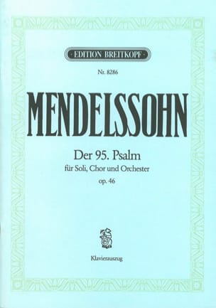 Psaume 95 Opus 46 MENDELSSOHN Partition Chœur - laflutedepan