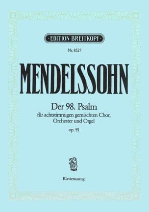 MENDELSSOHN - Der 98. Psalm op. 91 Mwv A 23 - Noten - di-arezzo.de