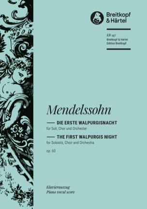 Félix MENDELSSOHN - Die Erste Walpurgisnacht Opus 60 - Partition - di-arezzo.fr