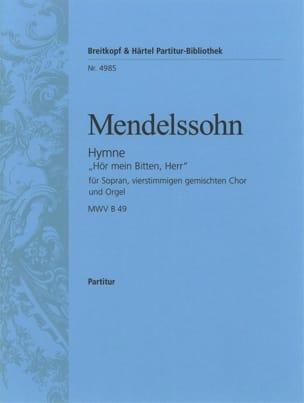 MENDELSSOHN - Anthem Hör Mein Bitten, Herr - Noten - di-arezzo.de