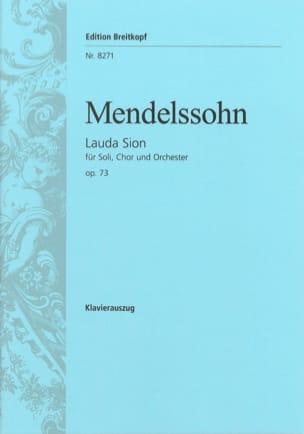 MENDELSSOHN - Lauda Sion Opus 73 - Partition - di-arezzo.fr