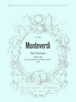 Claudio Monteverdi - Nisi Dominus - Partition - di-arezzo.co.uk