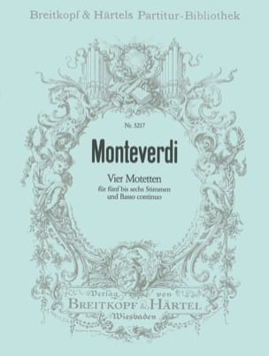 Claudio Monteverdi - 4 Motetten - Sheet Music - di-arezzo.co.uk