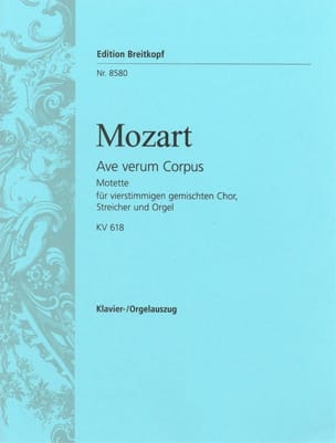 MOZART - Ave Verum Corpus K 618 - Sheet Music - di-arezzo.co.uk