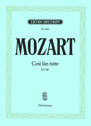 MOZART - Così Fan Tutte K 588 - Partition - di-arezzo.fr