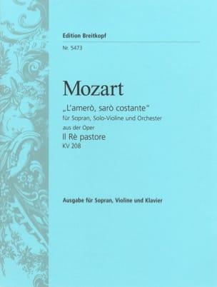 MOZART - The amero Saro Costante. he Re Pastore - Sheet Music - di-arezzo.co.uk