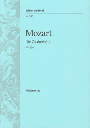 MOZART - Die Zauberflöte K 620 - Partition - di-arezzo.fr