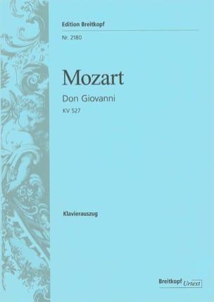 MOZART - Don Giovanni K 527 - Partition - di-arezzo.fr