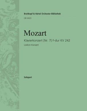 Concerto pour 3 claviers N° 7 K 242. Piano 1 MOZART laflutedepan