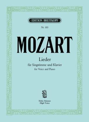 MOZART - 30 Lieder. Voix Haute - Partition - di-arezzo.fr