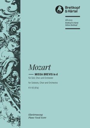 Missa Brevis in D KV 65 (61a) - MOZART - Partition - laflutedepan.com