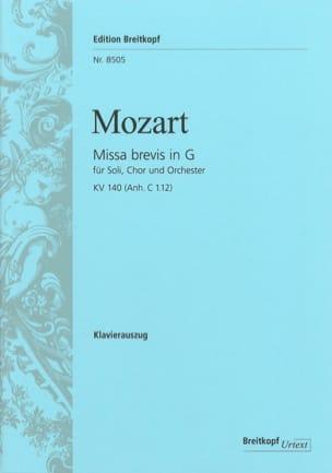 MOZART - Missa Brevis in G KV 140 - Partition - di-arezzo.fr