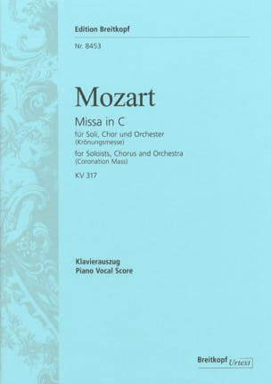 MOZART - Coronation Mass - Sheet Music - di-arezzo.com