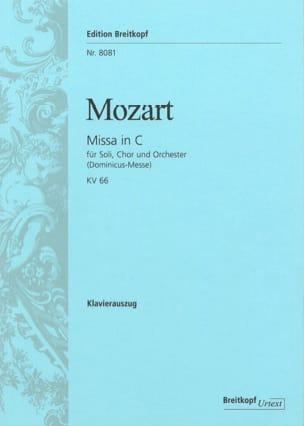 Missa in C KV 66 (Dominicus) - MOZART - Partition - laflutedepan.com