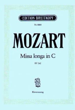Missa Longa. Do Majeur K 262 246a - MOZART - laflutedepan.com