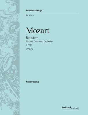 MOZART - Requiem - KV 626 - Partition - di-arezzo.fr