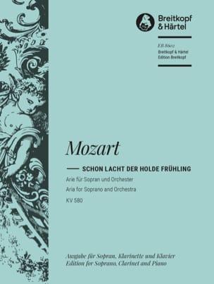 MOZART - Schon Lacht Der Holde Frühling K 580 - Partition - di-arezzo.fr