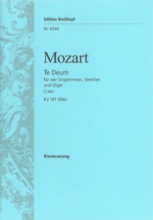 MOZART - Te Deum in C KV 141 66b - Sheet Music - di-arezzo.co.uk