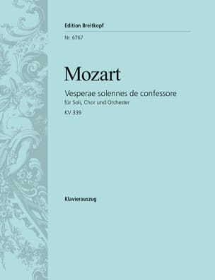 MOZART - Vesperae Solennes C-hard KV 339 - Sheet Music - di-arezzo.co.uk