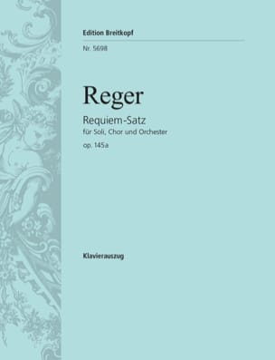 Requiem-Satz op. 145 - Max Reger - Partition - laflutedepan.com