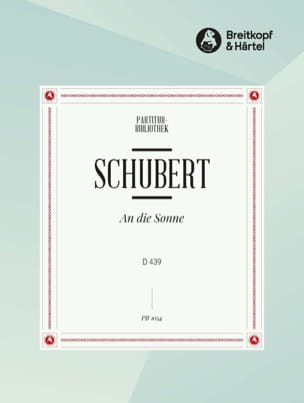 SCHUBERT - An Die Sonne D 439 - Sheet Music - di-arezzo.co.uk