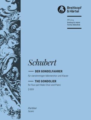 Der Gondelfahrer Opus 28 D 809 - SCHUBERT - laflutedepan.com