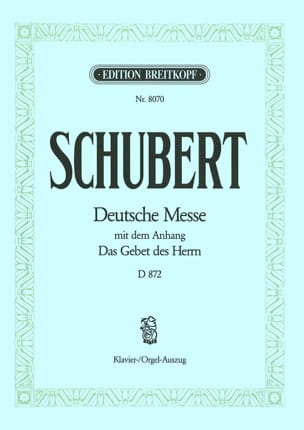 Deutsche Messe - D 872 en Fa Majeur SCHUBERT Partition laflutedepan
