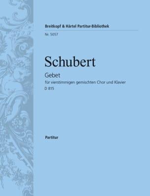 Gebet D 815 - SCHUBERT - Partition - Chœur - laflutedepan.com