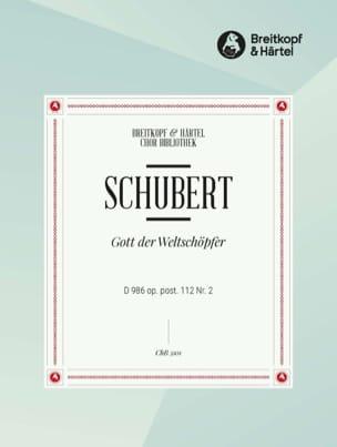 Gott, Der Weltschöpfer D 986, op Posth 112-2 - laflutedepan.com
