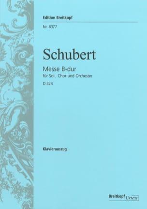 Messe B-Dur D 324 Op. 141 Posthume - SCHUBERT - laflutedepan.com