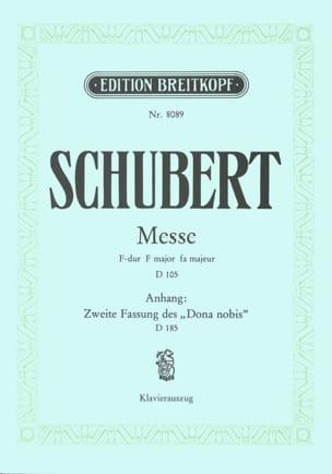 Messe F-dur D 105 - Franz Schubert - Partition - laflutedepan.com