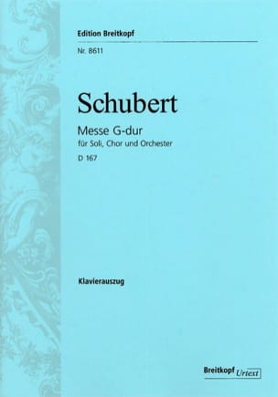 Franz Schubert - Mass in G Major D 167 - Sheet Music - di-arezzo.co.uk